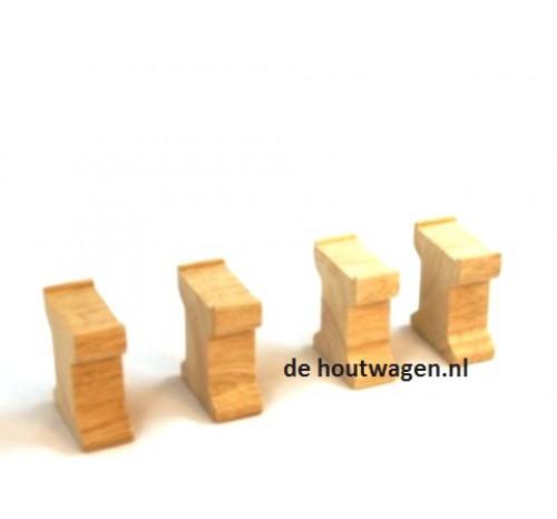 houten brugpilaren