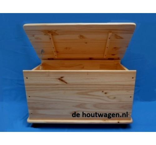 Houten speelgoedkisten - Houten doos op wielen ...