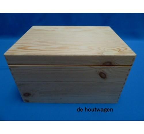 Mooie Houten Box.Opbergkist Met Deksel Naaldhout 40x30x14