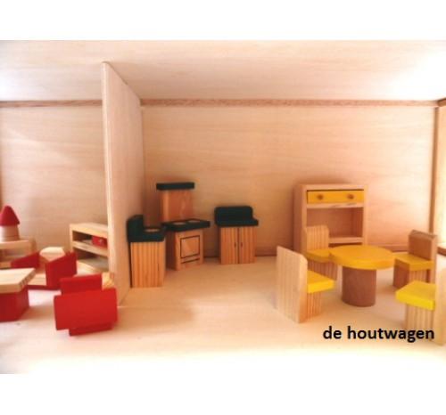 Poppenhuis groot met meubeltjes for Groot poppenhuis