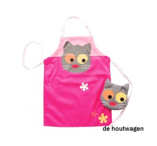 kinderschortje flower cat