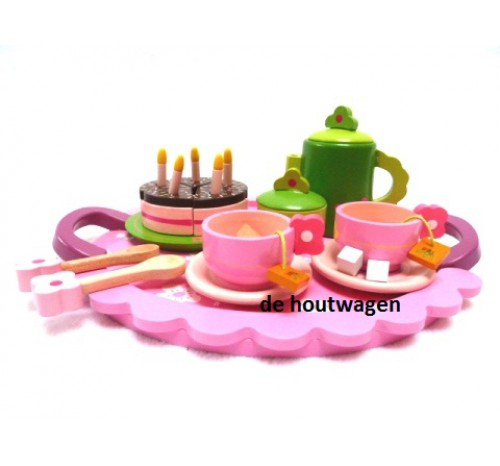 houten party servies