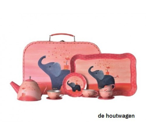 servies olifant in koffer