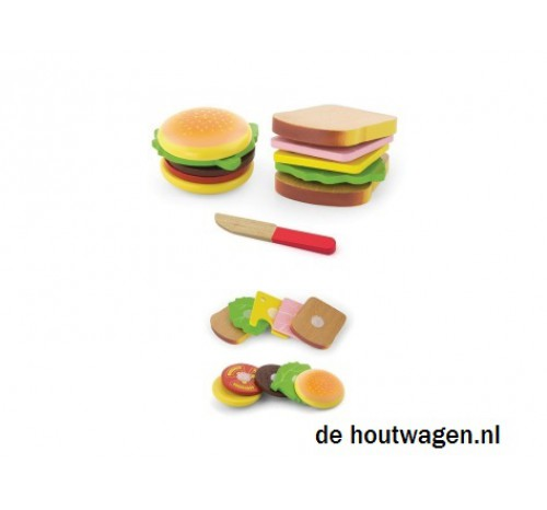 hamburger en sandwich set