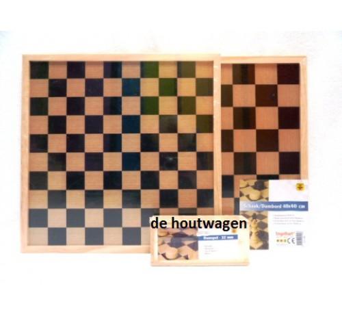 dam-schaakbord met damstenen