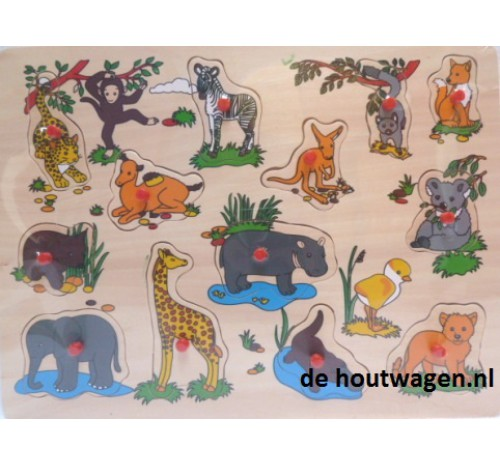 noppen puzzel jungle groot