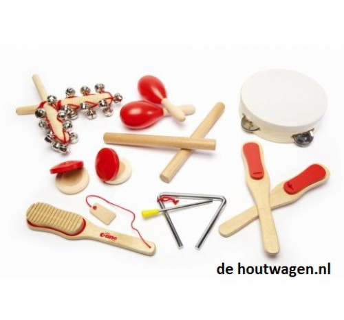 muziekinstrumenten set in kofferdoos