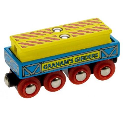 wagon met 2 metalen balken