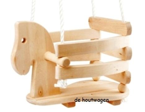 Houten Schommel Baby 1 Jaar.Houten Speelgoed Voor Kinderen De Houtwagen